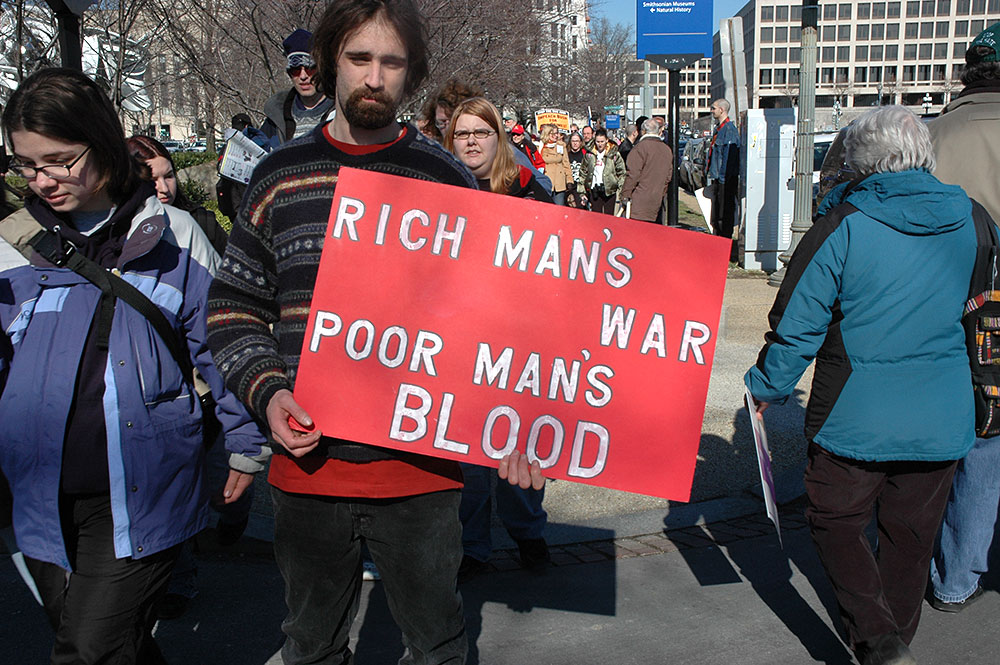 Rich man's war, poor man's blood